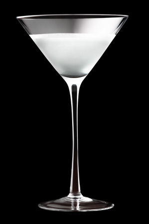 Frosted Martini Cocktail isolated on black background