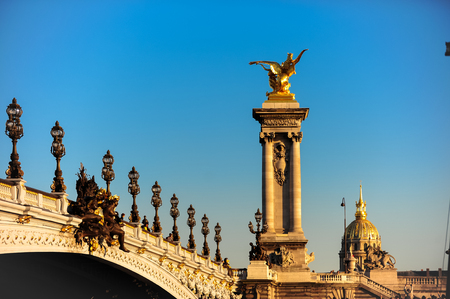 Pont Alexandre III Paris, France at sunset