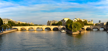 Seine River Paris, France with Ponte Neuf  and ile de le cite