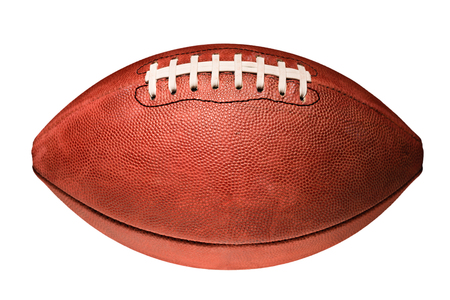 equipment: American football isolated on white background