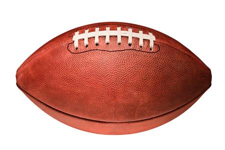 Amerikaanse voetbal geïsoleerd op witte achtergrond Stockfoto - 46323919