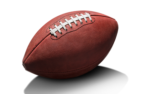 Football américain isolé sur fond blanc Banque d'images - 46347884