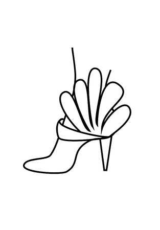 high heeled shoe: foot design for drawing woman shoe and high heeled shoe Stock Photo