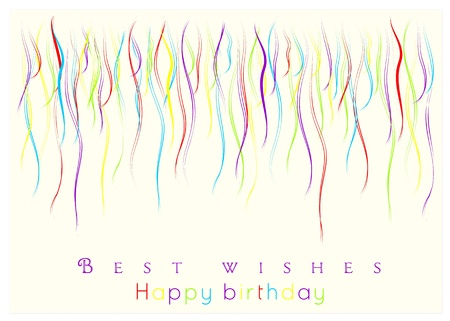 best wishes and congratulations card with colored ribbons Stock Vector - 19328158