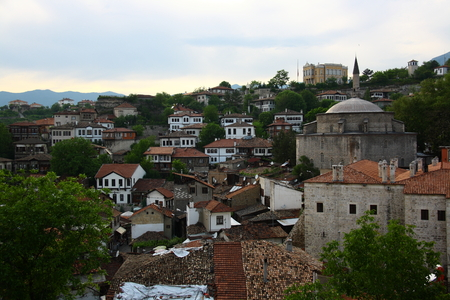 Old town in Turkey Safranbolu with beautiful houses photo