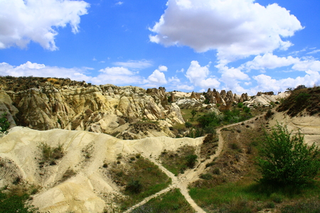 view of Urgup and Goreme in Turkey photo