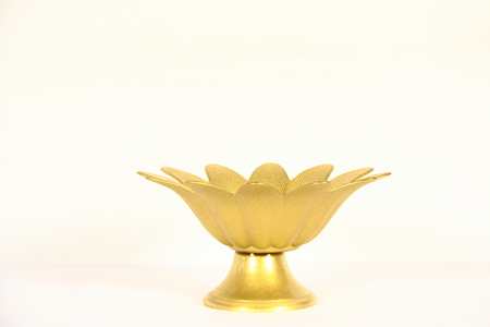 sweeties: gold case for sweeties on white background Stock Photo