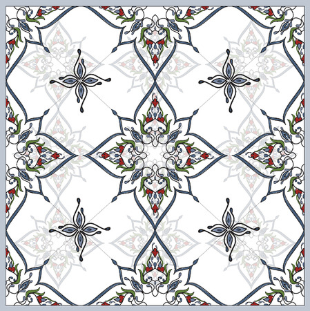 bed clothes: Ottoman Tile Art Elements for bed clothes