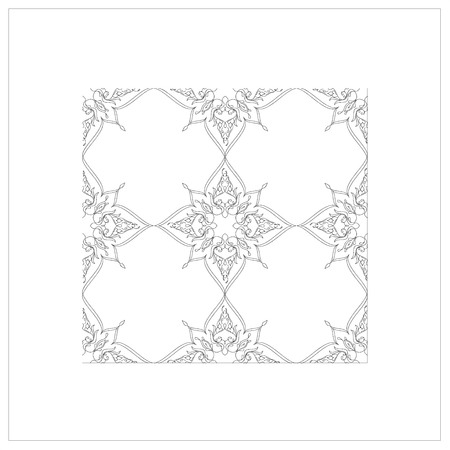 ottoman: Ottoman Tile Art With Elements square Illustration