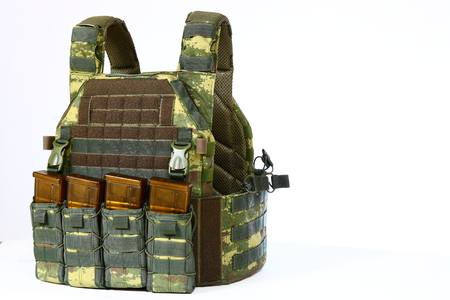 tactical: Tactical Vest for army with bulletproof Stock Photo