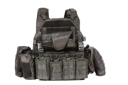 Tactical Vest for army with bulletproof Stok Fotoğraf