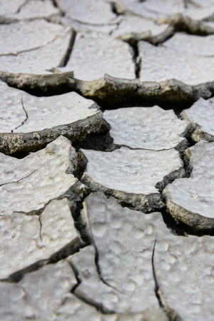 extreme heat: Drought Soil without grass background