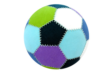 ball color decorative fabric  isolated on a white background photo