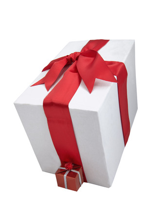 boxs: two boxs for gifts on the white background