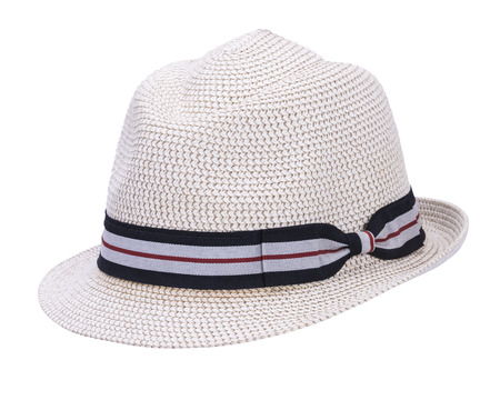 mens straw hat with white background photo