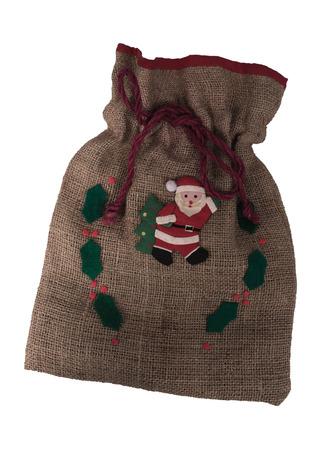 sackful: Christmas bag empty isolated on white background