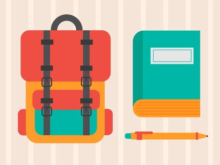 mochila escolar: Escuela de bolsa Vectores