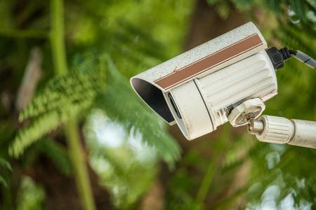 Close circuit camera in the park.