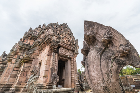 rung: Phanom Rung Historical Park, Temple complex with Naga.