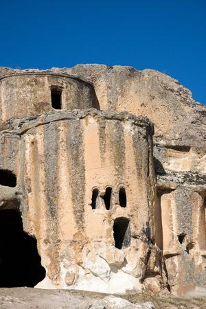 Old cave Bizantyan church in the Phrygian valley Turkey