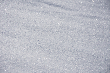 Sparkling snow crystal in the snowy winter