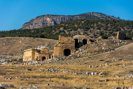 ruins of the amphitheater from the Greco-Roman period in Denizli