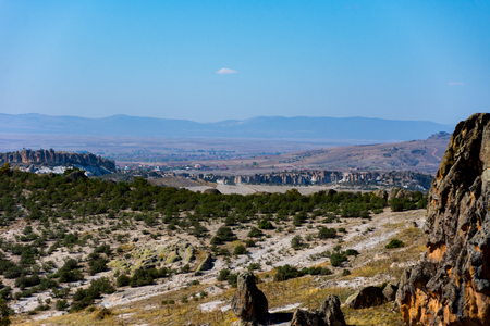 view to the Phrygian valley from the top of the water well Reklamní fotografie
