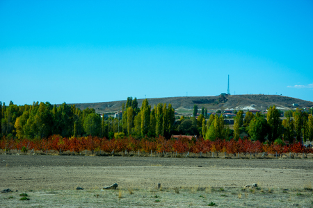 autumns colors in the Phrygian valley in Afyon city, Turkey Stock Photo