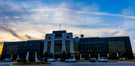 Panoramic view to the rectorate building of Afyon Kocatepe University in Afyonkarahisar picture taken on 8. January 2018 Editorial