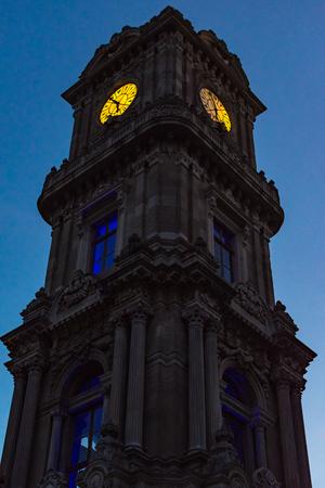 Dolmabahçe Clock Tower in Besiktas part of Istanbul Editorial