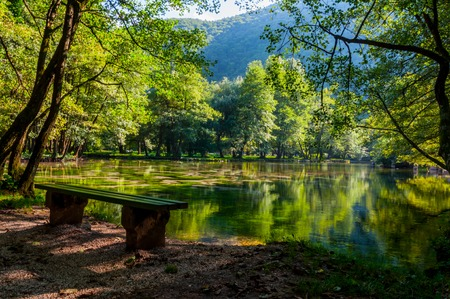 Beautiful park Vrelo Bosne in the Bosnia and Herzegovina