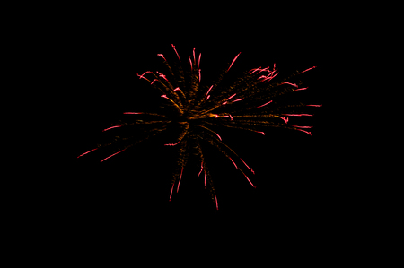 Beautiful colorful fireworks display for celebration happy New Year