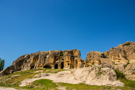 The ancient church from the Phrygian valley located between two turkish cities Afyon and Eskisehir 版權商用圖片