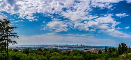Wonderful view to the city of Istanbul from the hill Camlica that has the best viewpoint to the Istanbul