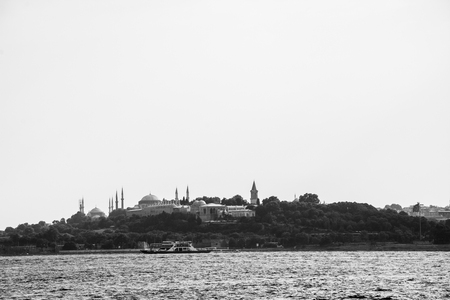 Looking to the part of the Istanbul city from distance