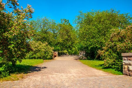 The beautiful landscape of the park in the city of Malmo, Sweden