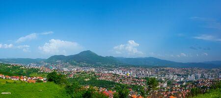 Panoramic view of the Sarajevo Bosnia and Herzegovina capital