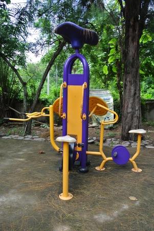 Outdoor training equipment.