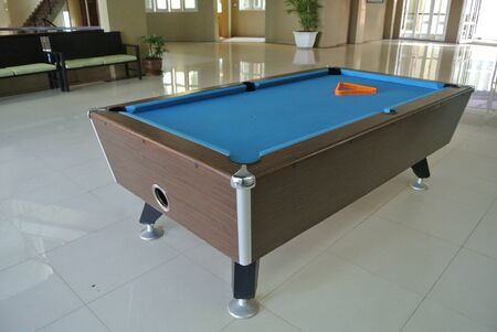 Chon Buri, Thailand, July 8th, 2018, The small snooker table. Éditoriale