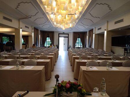 Sukhothai, Thailand, July 25th, 2018, Preparedness of meeting room.