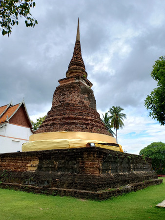 The old buddhism pagoda. Banque d'images