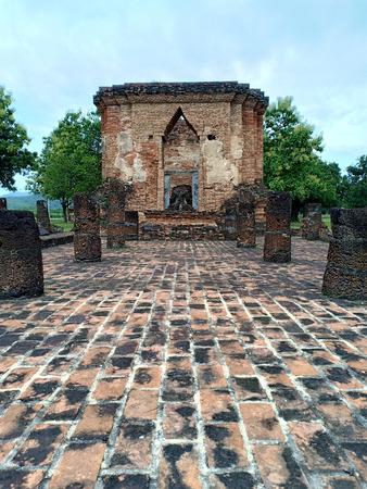 Sukhothai Ruin archaeological site. Banque d'images