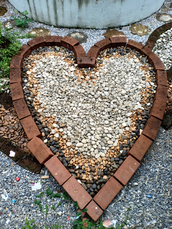 Stone Placement in heart shape.