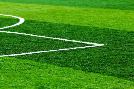 Constructed with artificial turf football field