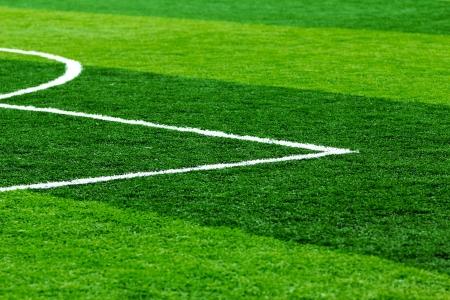 Gebouwd met kunstgras voetbalveld Stockfoto