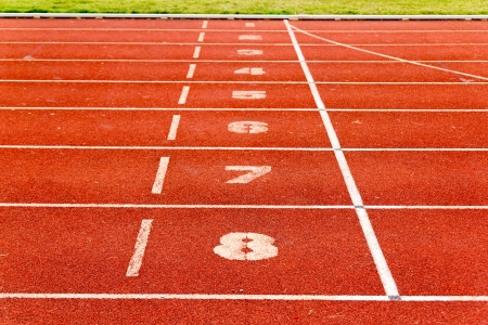 Running track for athletics and competition  photo