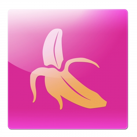 banana icon on a white background  photo