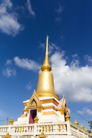 wat pho: The pagoda was built in the temple of Thailand Stock Photo