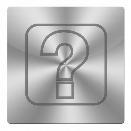 Question icon on white background photo