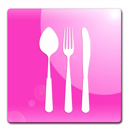 Food and drink application icons, restaurant  icon Stock Photo - 23417837